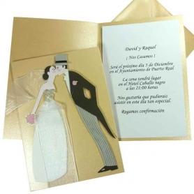 Carte d'Invitation Jeunes Mariés 0.77 €