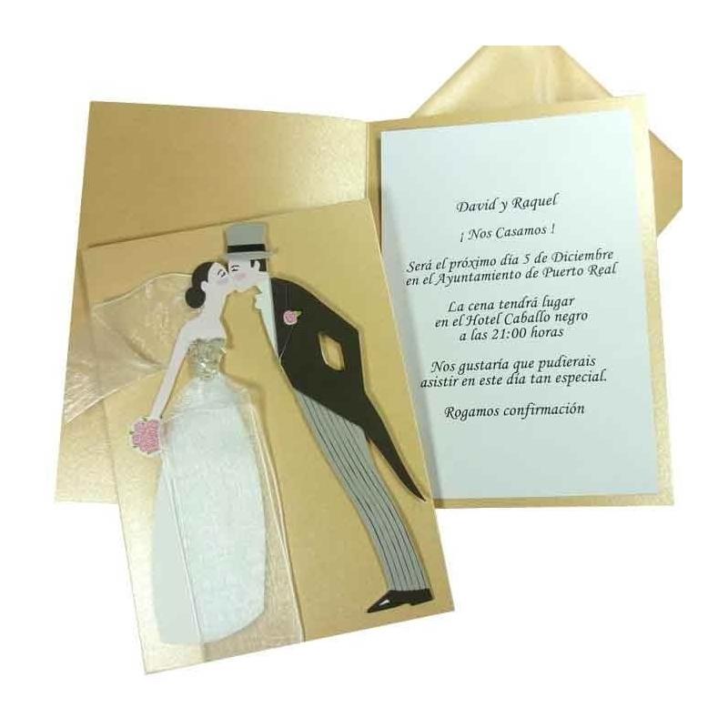 Carte d'Invitation Jeunes Mariés