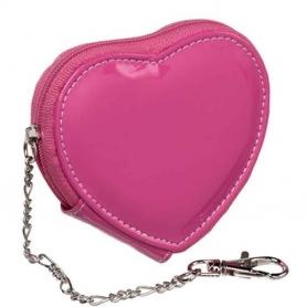 Porte Monnaie Coeur Rose