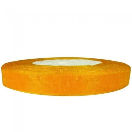 Ruban Organza Orange  Papier Crépon et Rubans Décoratifs