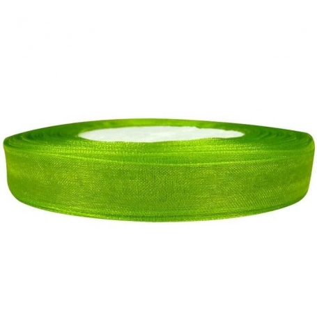 Ruban Organza Vert  Papier Crépon et Rubans Décoratifs