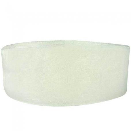 Ruban Organza Blanc  Papier Crépon et Rubans Décoratifs