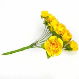 Fleur en Papier Jaune