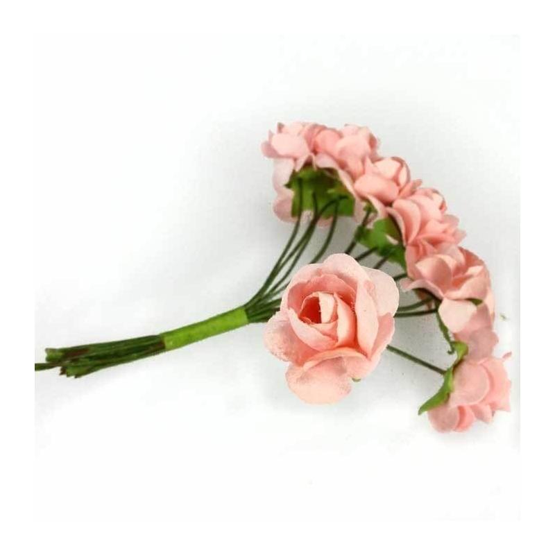 Fleurs en Papier Rose