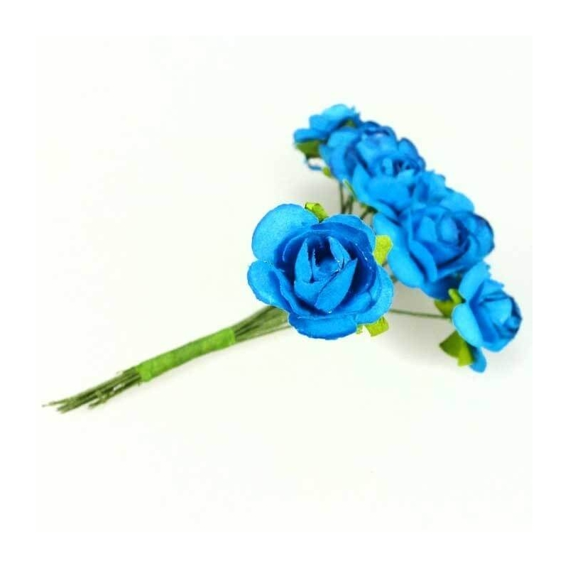 Fleur en Papier Bleu