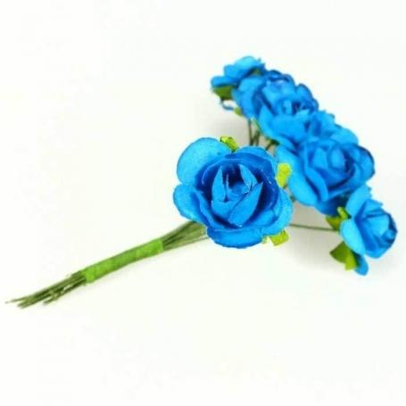 Fleur en Papier Bleu  Fleurs en papier pics fleur decoration