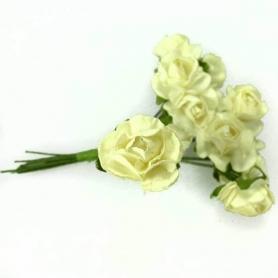 Fleur en Papier Blanc Casse