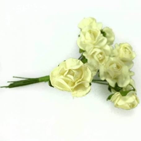 Fleur en Papier Blanc Casse  Fleurs en papier pics fleur