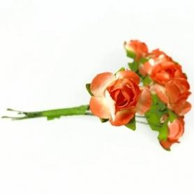 Fleur en Papier Orange Jaune