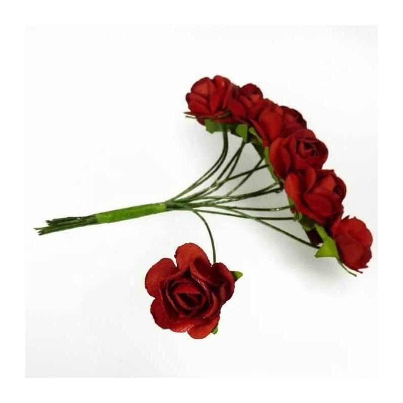 Fleur en Papier Rouge