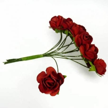 Fleur en Papier Rouge  Fleurs en papier pics fleur decoration