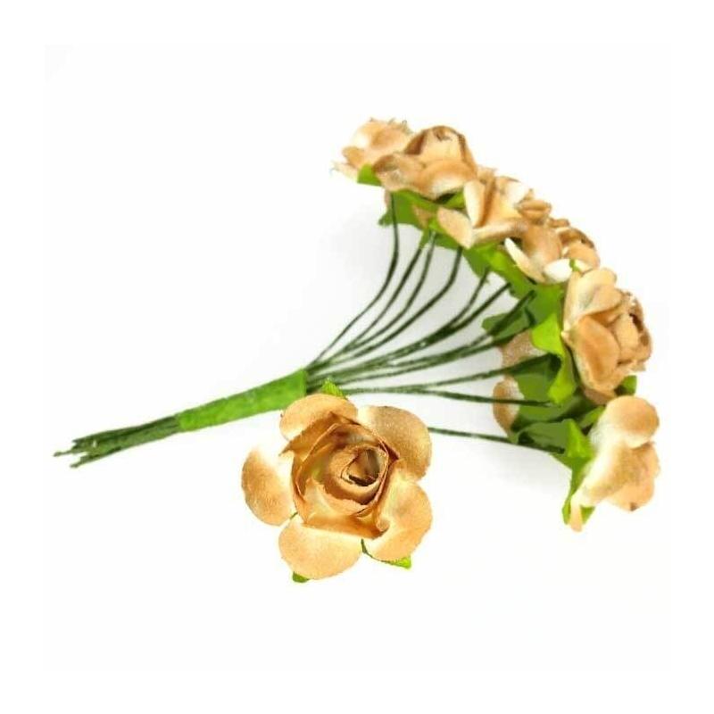 Fleurs en Papier Marron