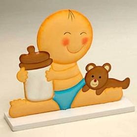 Figurine Gateau Bebe Bapteme garcon