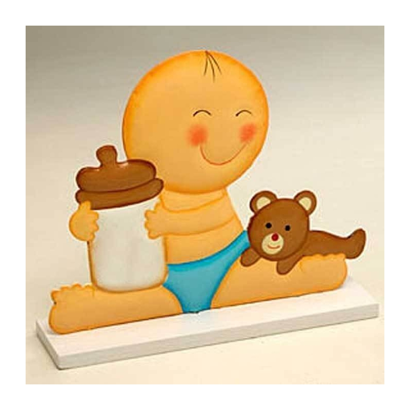 Figurine Gateau Bebe Bapteme garcon  Figurine pour Gateau