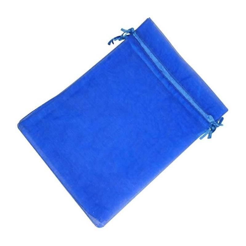 Pochette Organza Bleu Electrique
