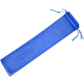 Organza Bleu Eventails  organza sachets eventails
