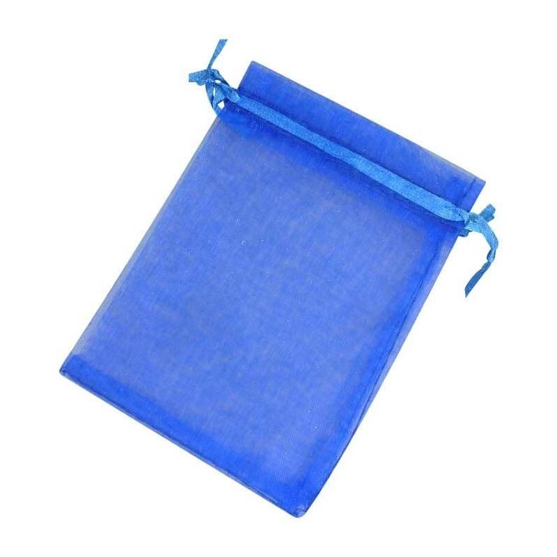 Pochettes en Organza Bleu 13x17