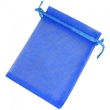 Pochettes en Organza Bleu 13x17  Sachets organza 13 x 17
