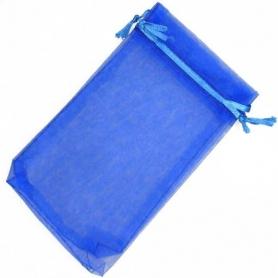 Pochettes en Organza bleu 9x15