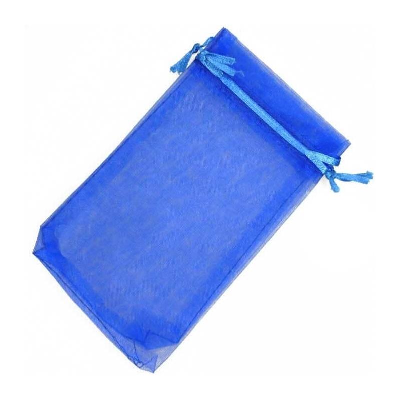 Pochettes en Organza bleu 9x15  Sachets organza 9 x 15