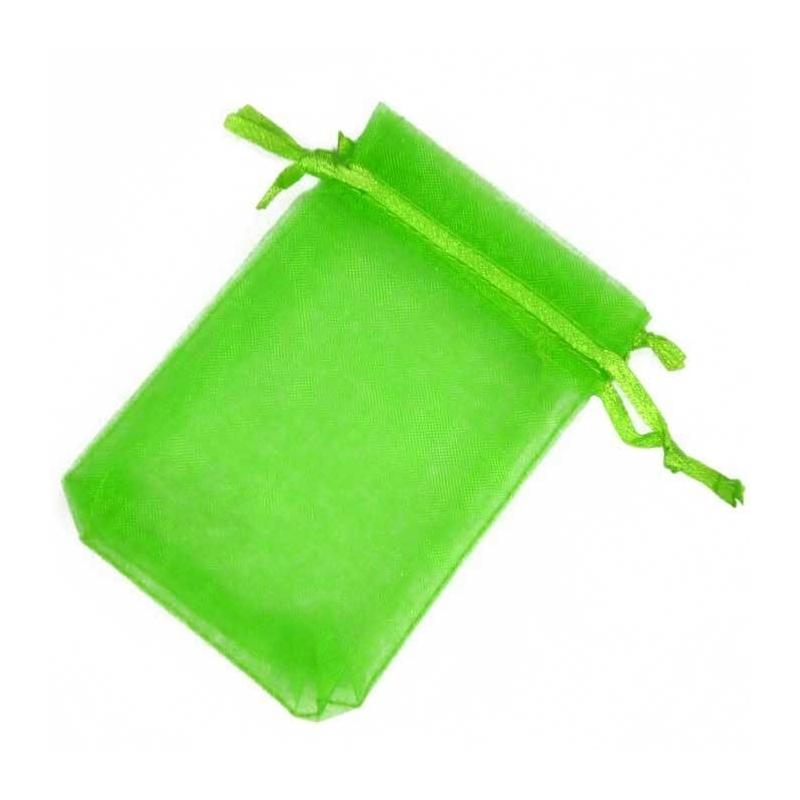 Pochette Organza Vert 13x17
