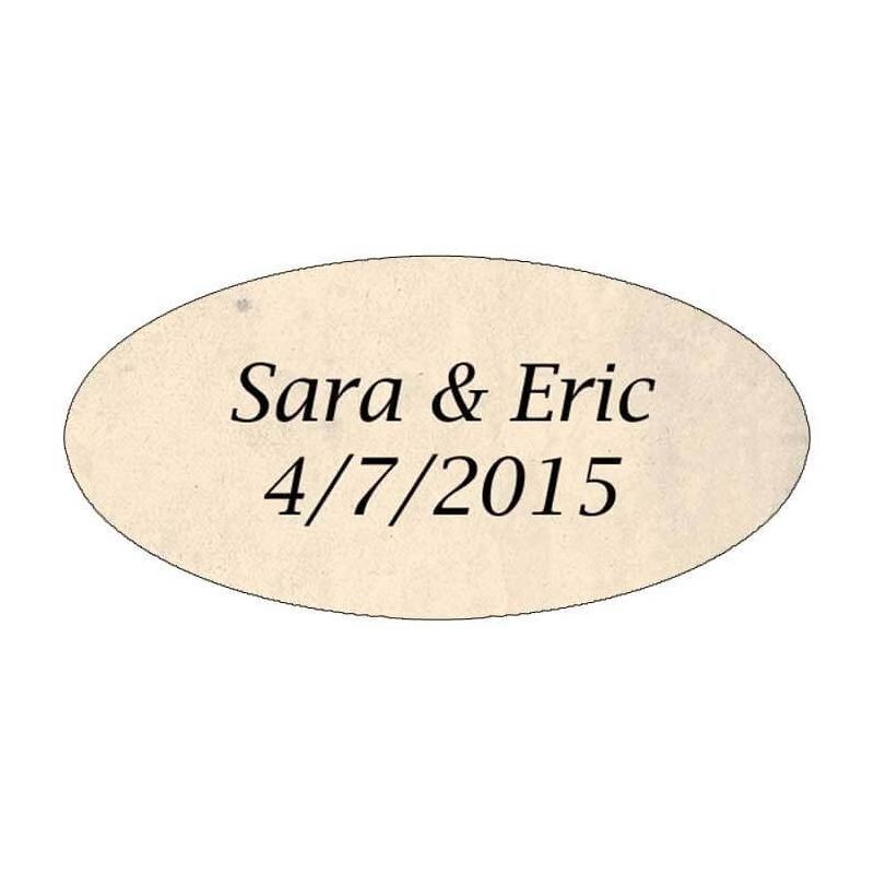 etiquette autocollante mariage parchemin - Etiquette Autocollante Mariage