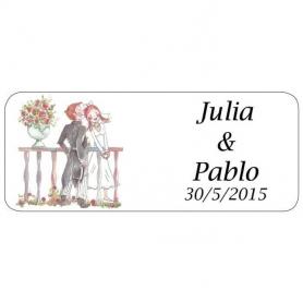 Etiquette Adhesive Mariage Romeo et Juliette