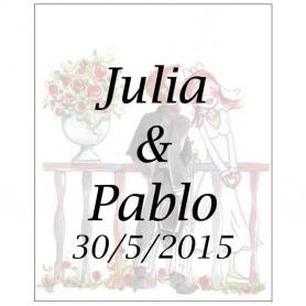 Etiquettes Personnalisees de Vin Romeo et Juliette