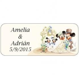 Stickers Personnalise pour Cadeau de Mariage Mickey