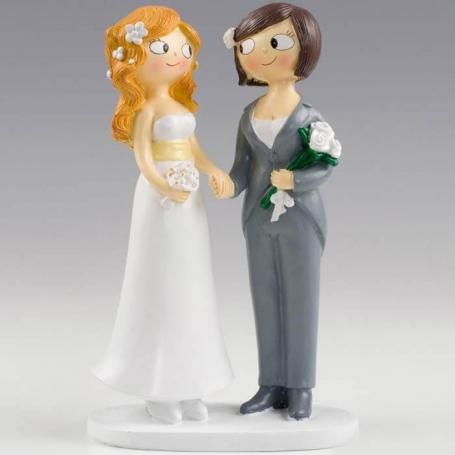 Figurine pour Pièce Montée Mariage Lesbiennes  Figurine pour