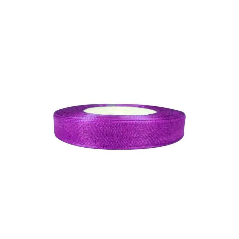 Ruban Organza Violet  Papier Crépon et Rubans Décoratifs