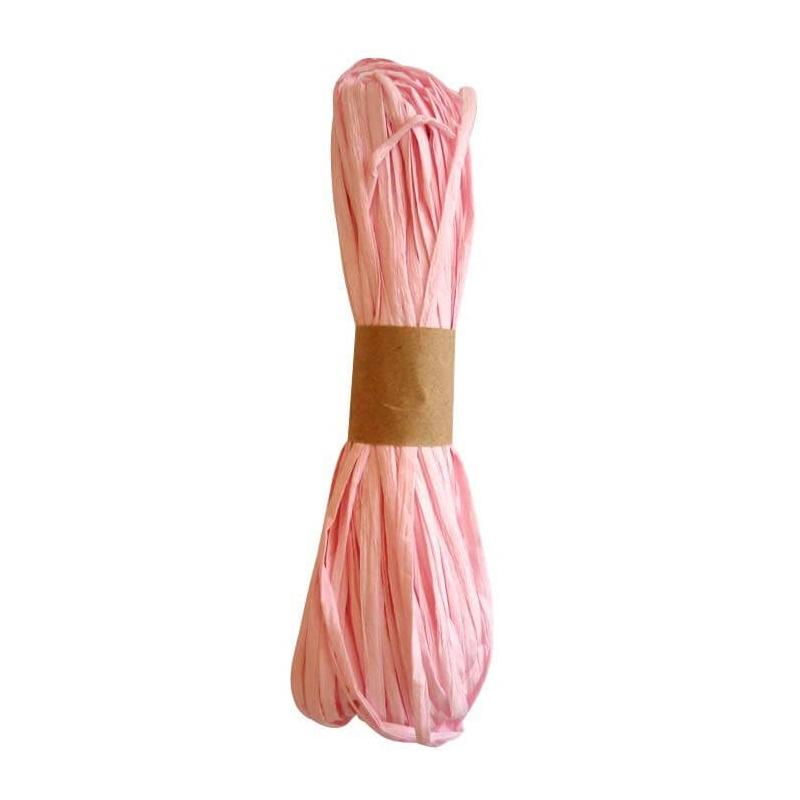 Ruban decoratif raphia rose