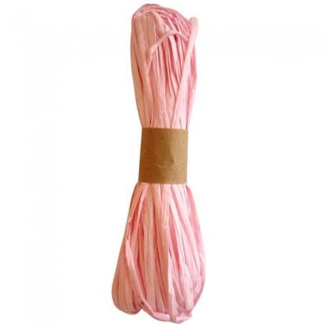 Ruban decoratif raphia rose  Papier Crépon et Rubans Décoratifs