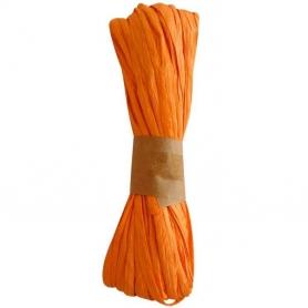 Raphia pas cher orange decoration cadeau