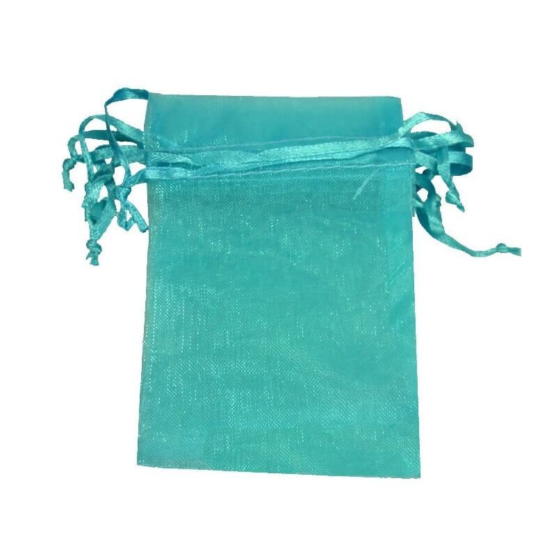 petit sac cadeau organza pas cher turquoise. Black Bedroom Furniture Sets. Home Design Ideas