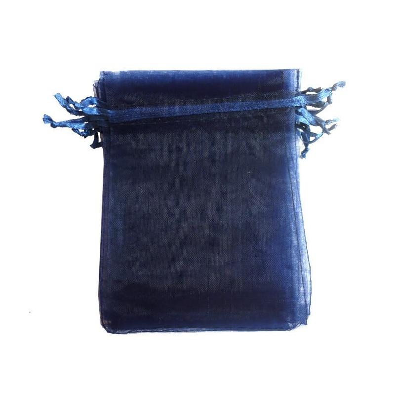 Pochette cadeau pas cher organza bleu