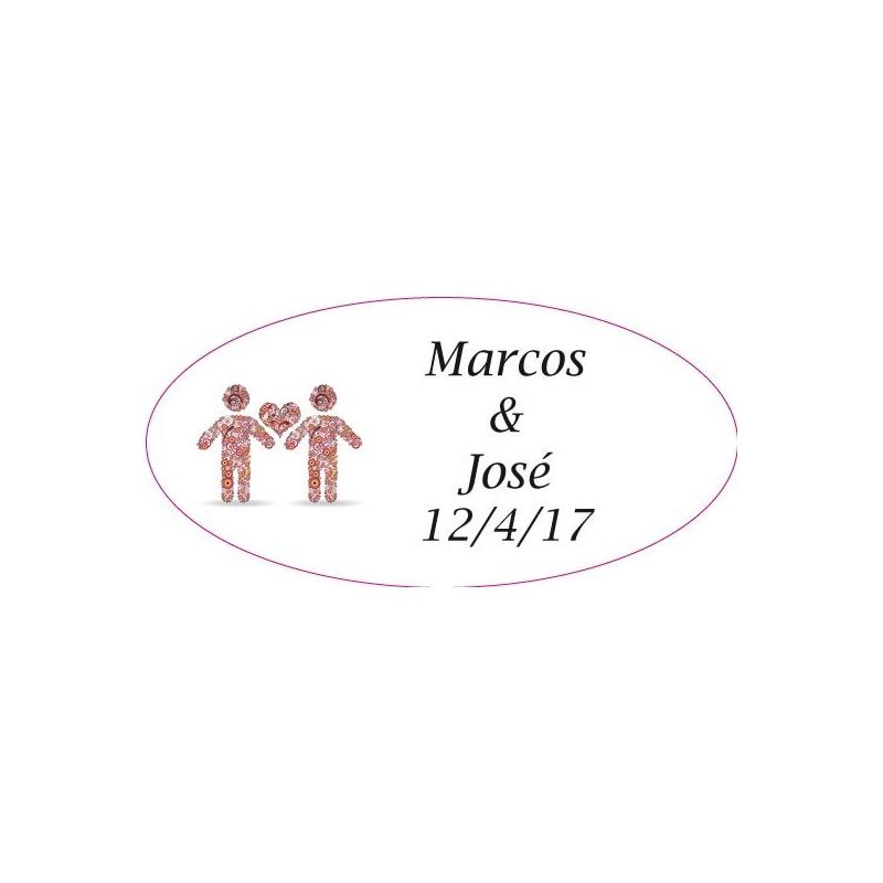 Etiquettes Motif Mariage