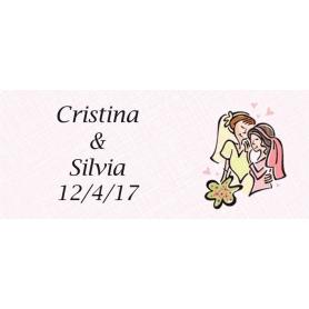 Etiquettes Autocollantes pour Cadeaux de Mariage