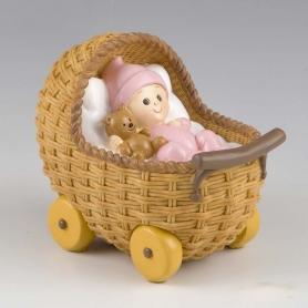 Bébé dans son Landau  Figurine pour Gateau Bapteme