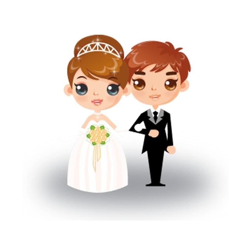 Adhésif Jeunes Mariés