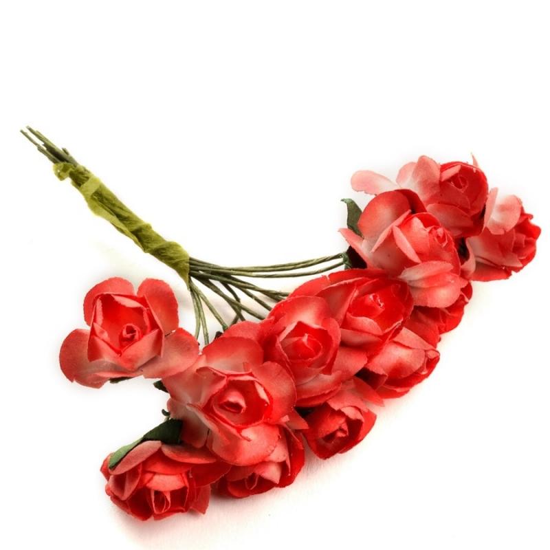 Fleurs Rouges en Papier