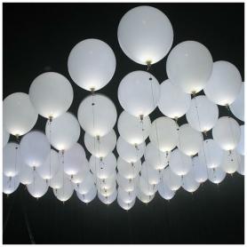 Ballons Blancs LED  Ballons Cadeaux 0,83€