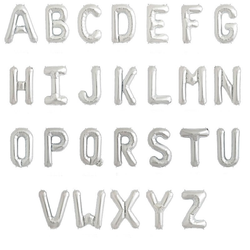 Ballons Lettres Abecedario: a, b, c, d, e, f, g, h, i, j, k, l