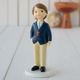 Figurine Pièce Montée de Communion Garçon  Figurine Gateau