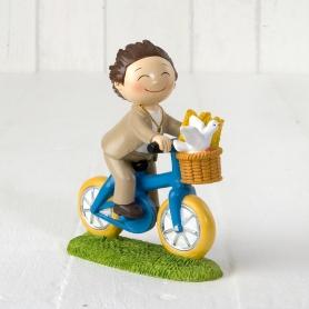 Figurine Communion Garçon Vélo