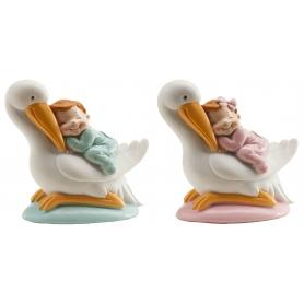Chiffres Cigognes avec bébé