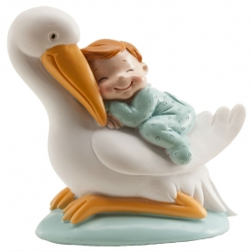 Figurine Bébé Cigognes