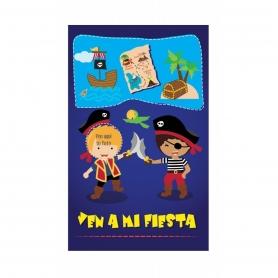 Invitations d'Anniversaire Pirates