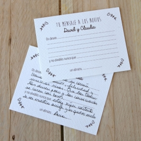 Wedding Wishes Cartes