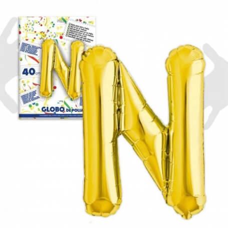 Ballons Lettres Dorées Abecedario: a, b, c, d, e, f, g, h, i